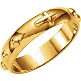 Rosary Ring in 14k Yellow Gold - Size 8