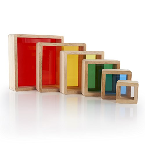 Guidecraft Stacking Rainbow Pyramid G5066 - 1