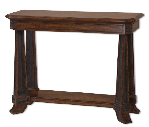 Cheap Oswald Console Table with Distressed Pecan Finish (B002A0KDQE)