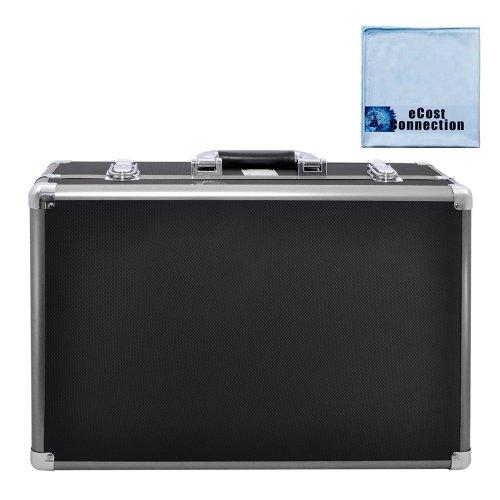 Medium Hard Camcorder Equipment Case For Jvc Everio Gz-Ex310, Gz-Ex355, Gz-Ex515, Gz-Ex555, Gz-Vx815,Gz-Hd520, Gv-Ls1, Gc-Px100 & More... + Microfiber Cloth