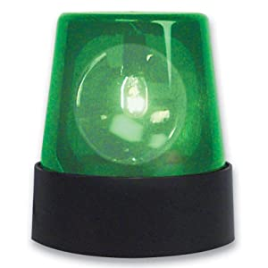 Green Flashing Police Light