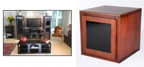 "Finished End - Glass Door - Merlot - 18"" x 18 x 18"" (Merlot) (18""H x 18""W x 18""D)"