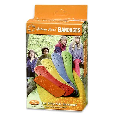 Galaxy Care 5 Colors Fun Strip Kids Bandages