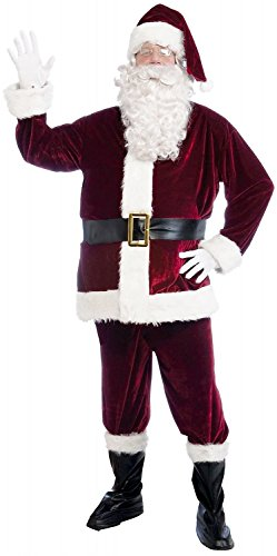 Forum Novelties Men's Plus Size Velvet Santa Suit