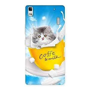 Impressive Kitty Coffee Multicolor Back Case Cover for Lenovo K3 Note