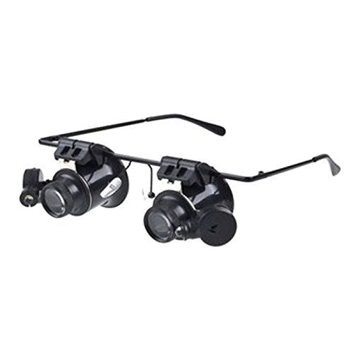 Loupe & Magnifying Glass - 20X Plastic Watch Repair Magnifier Black