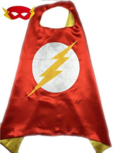 superhero-or-princess-kids-cape-mask-set-childrens-halloween-costume-red-yellow-flash