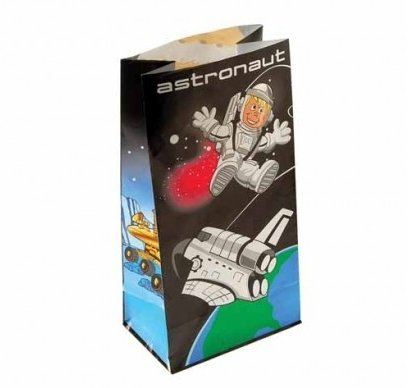 Lot Of 12 Astronaut Space Paper Party Loot Bags