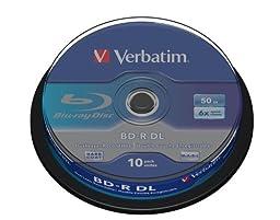 Verbatim BDR 50Gb 6x Spindle 10 No 43746