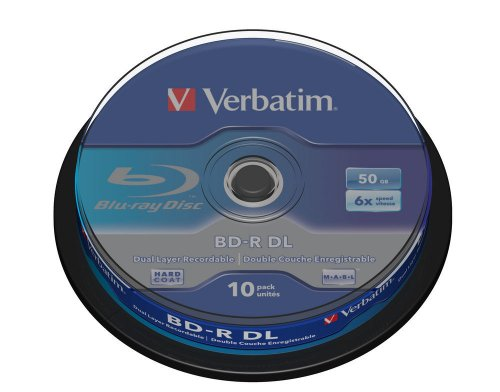Verbatim BD-R Blu Ray Disc 50 GB, 6X, Dual Layer Recordable,  Confezione da 10