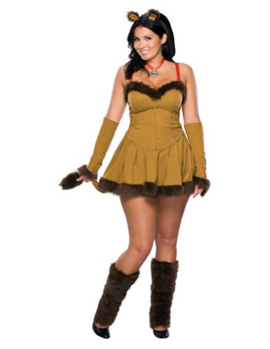 Cowardly Lion Plus Adult Womens Costume