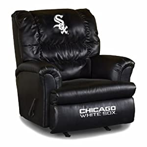 MLB Chicago White Sox Big Daddy Leather Recliner by Imperial