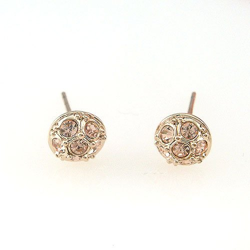 On Sale Free Shipping New Style 18k Yellow Gold Plated Citrine Cz Stud Earring 084887