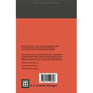 Versicherungsmathematik, Tl.1, Personenversicherung (Teubner Studienbücher Mathematik)