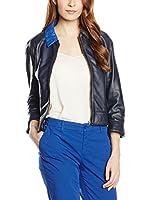 Trussardi Jeans Americana Piel Mujer (Azul)