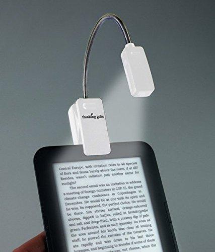 LED Leselampe mit Klammer für eBook Reader, Weiß