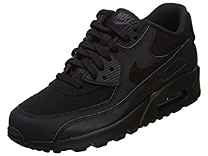 Nike Air Max 90 (GS) Black Big Kids Running Shoes 307793-091 (6)