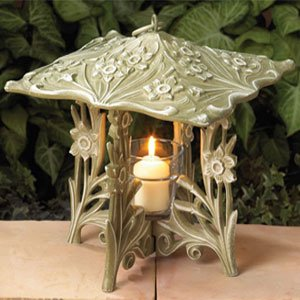 Whitehall Products Daffodil Twilight Lantern – French Bronze