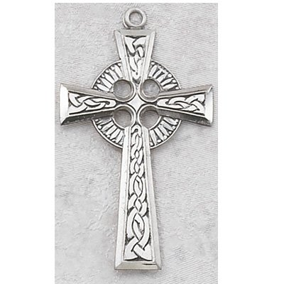 Sterling Silver Celtic Irish Cross with 24