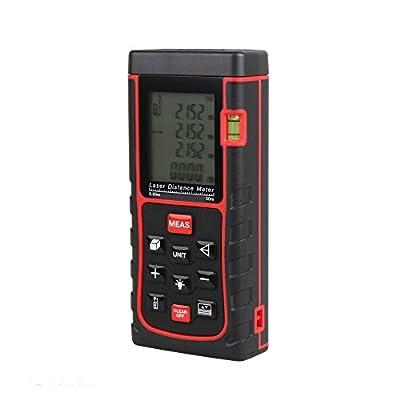 Leaton® Newest LD-E50II Digital Laser Distance Meter Measure with165ft/50m Handheld Range Finder Meter Measuring Device Tool Range, +/- 2mm Accuracy ,Backlit Display