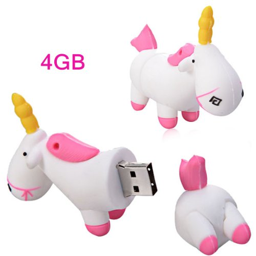 4-Motif-cheval-licorne-Blanc-Cl-USB-Dragon