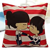 Pure Boys And Girls Series Printed Linen Pillow Cases Home Sofa Cushion Covers