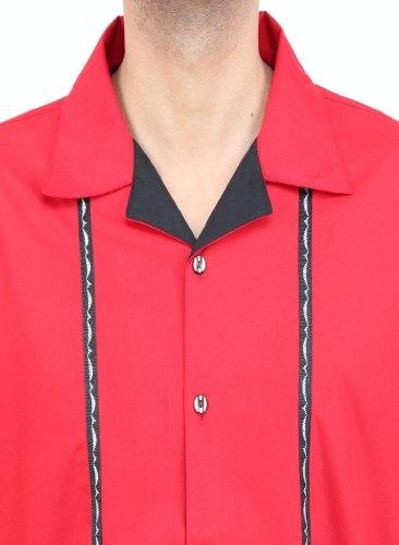 H.K.Mandel Herren Sixties Mode, Modell: 1004-1, rot, Größe: XL