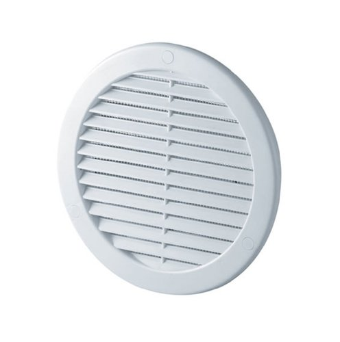 Circle Air Vent Grille Cover 125mm Ducting White ABS Plastic