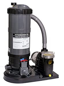 Hydro Above Ground Pool Cartridge 1-1/2 hp Filter System