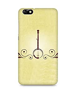 Amez designer printed 3d premium high quality back case cover for Huawei Honor 4X (Musical instrument guitar green brown)