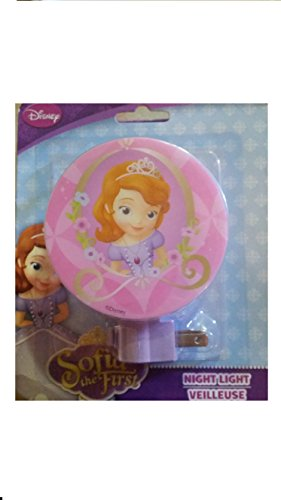 Wall Plug In Night Light Kids Room Decor Disney Theme Characters (Sofia the First)
