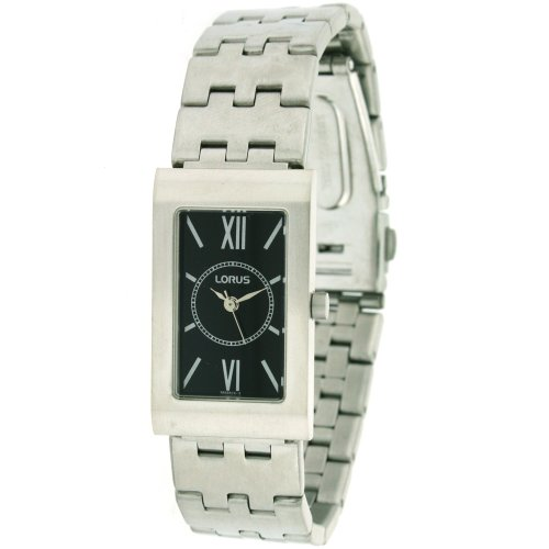 Lorus Ladies Watch Black Dial Silver Tone