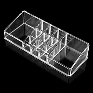Evaluemart Clear Acrylic Makeup Cosmetic Organizer Lipstick Brush Holder Case Stand