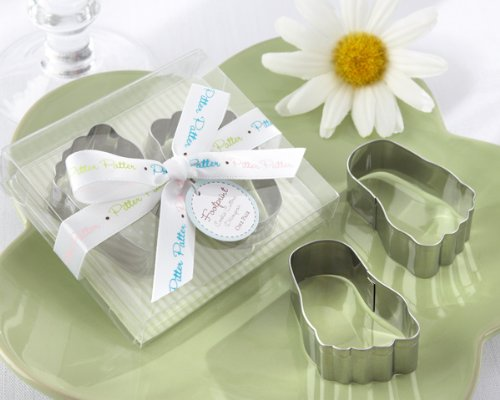 Pitter-Patter of Little Feet Stainless-Steel Baby Footprint Cookie Cutters, 1 piece