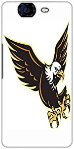 Snoogg American Bald Eagle Flying Designer Protective Back Case Cover For Mic...