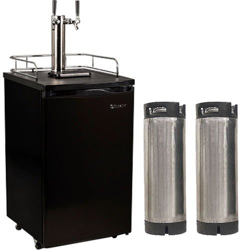 Best Deals! Edgestar Ultra Low Temp Home Brew Dual Tap Kegerator with Kegs - Black