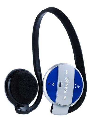 MIIKEY Wireless MiiSport Stereo Bluetooth Headphones for iPhone - Bluetooth Headset - Retail Packaging - Blue
