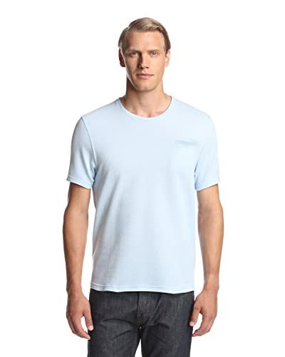 Calvin Klein Collection Men's Micro Pattern Bicolor Cotton Crew Neck T-Shirt