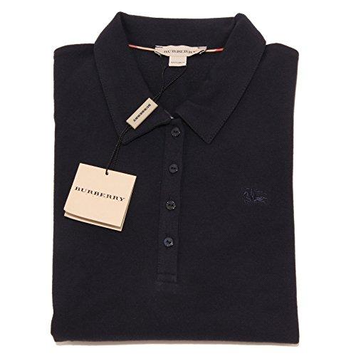 5429I polo bimba blu BURBERRY manica lunga maglie t-shirts kids [5 ANNI]