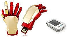 Quace Cool Red and Gold Hand 8 GB USB Pen Drive with LED