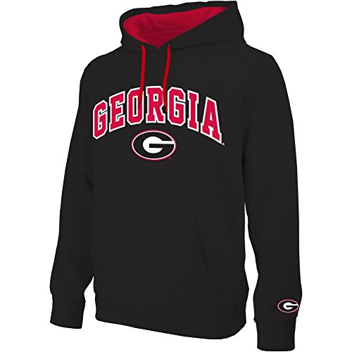 Georgia Bulldogs Hooded Sweatshirt Arch Black - XL (Georgia Bulldogs Mens Hoodie compare prices)