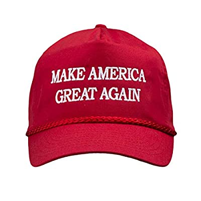 MAKE AMERICA GREAT AGAIN! - Trump 2016 Adjustable Cap with Rope Front