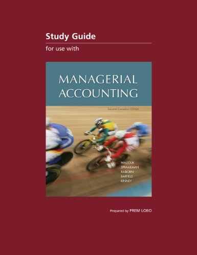 CDN ED Managerial Accounting Study Guide