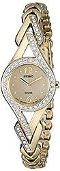 Seiko Women's SUP176 Swarovski Crystal-Accented Stainless Steel Solar Watch