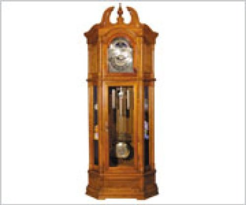 Acme Furniture 01410 Rissa Oak Grandfather Clock in Traditional Style