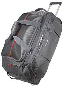 Graphite/Orange Techno 30inch Wheeled Holdall by Pierre Cardin