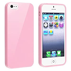 eForCity TPU Rubber Skin Case  iPhone 5, Light Pink Jelly