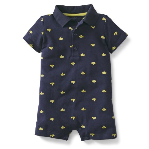 Carter'S Baby Boys' Printed Romper (Baby) - Blue - 18 Months front-171252