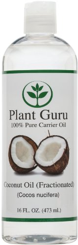Coconut Oil (Fractionated). Base Carrier Oil for Aromatherapy, Essential Oil or Massage use 16 oz