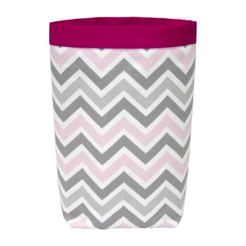 Car Trash Bag Headrest Style Gray Pink Chevron Pink Band